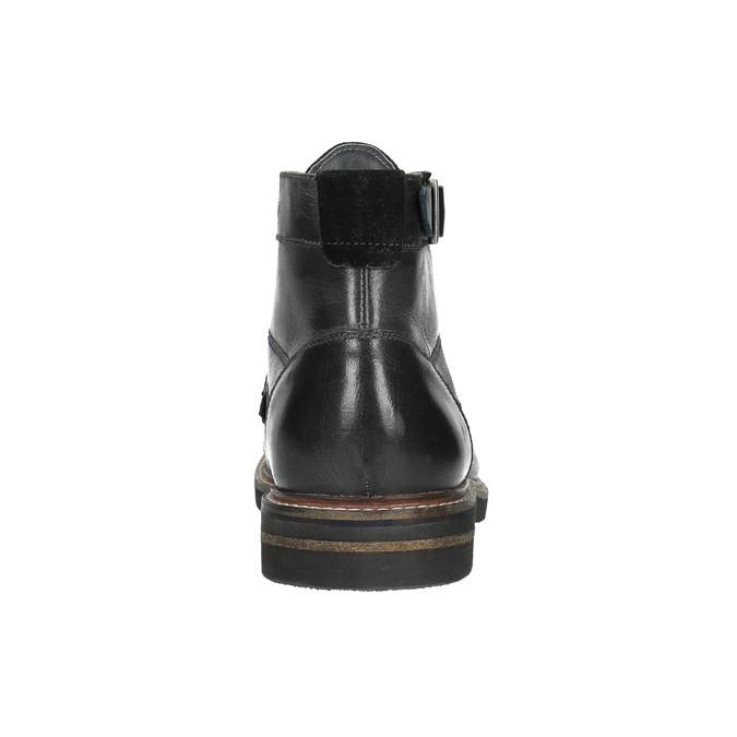 Pánska členková obuv bata, čierna, 894-6651 - 17