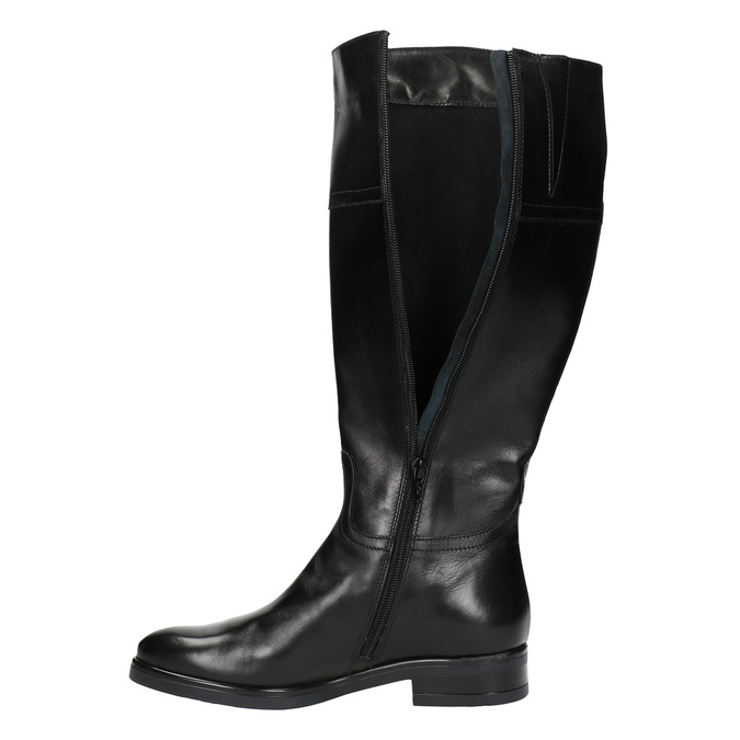 Kožené dámske čižmy bata, čierna, 594-6606 - 19