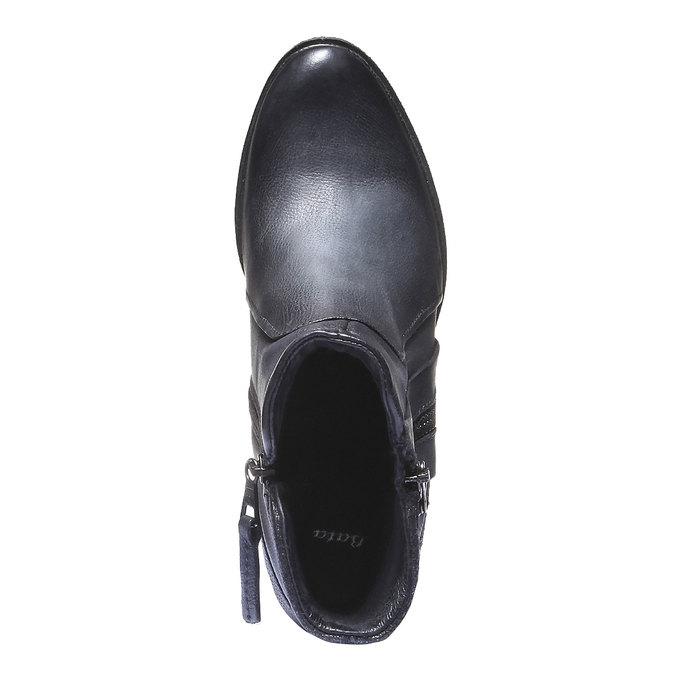 Kožená členková obuv bata, modrá, 796-9100 - 19