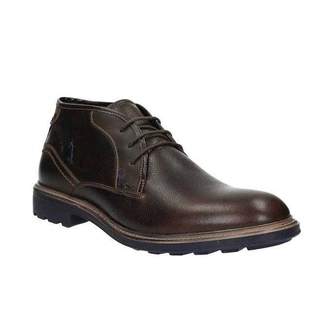 Kožené Chukka Boots bata, hnedá, 824-4701 - 13