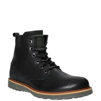 Kožená členková zimná obuv bata, čierna, 894-6659 - 13