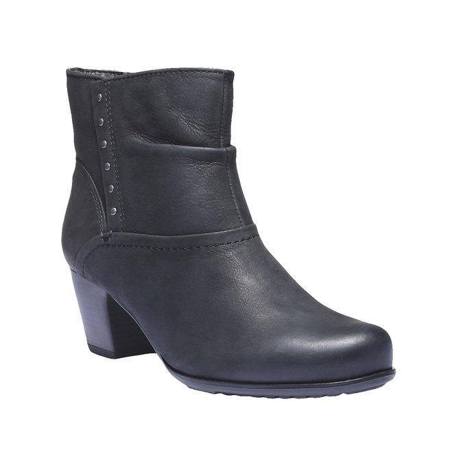 Dámska členková obuv bata, čierna, 696-6100 - 13