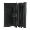 Dámska kožená peňaženka bata, čierna, 944-6168 - 15