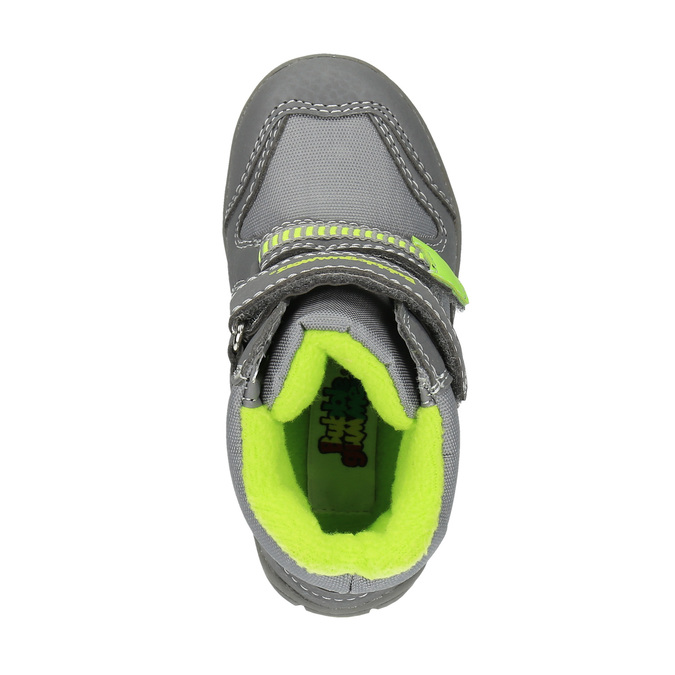 Detská zimná obuv s reflexnými detailami bubblegummer, šedá, 199-2601 - 19