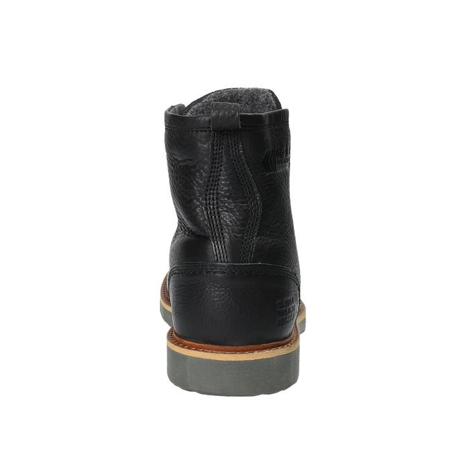 Kožená členková zimná obuv bata, čierna, 894-6659 - 17