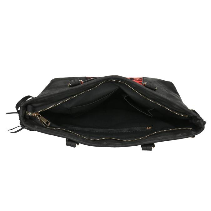 Dámska kabelka v Etno štýle bata, čierna, 961-6669 - 15