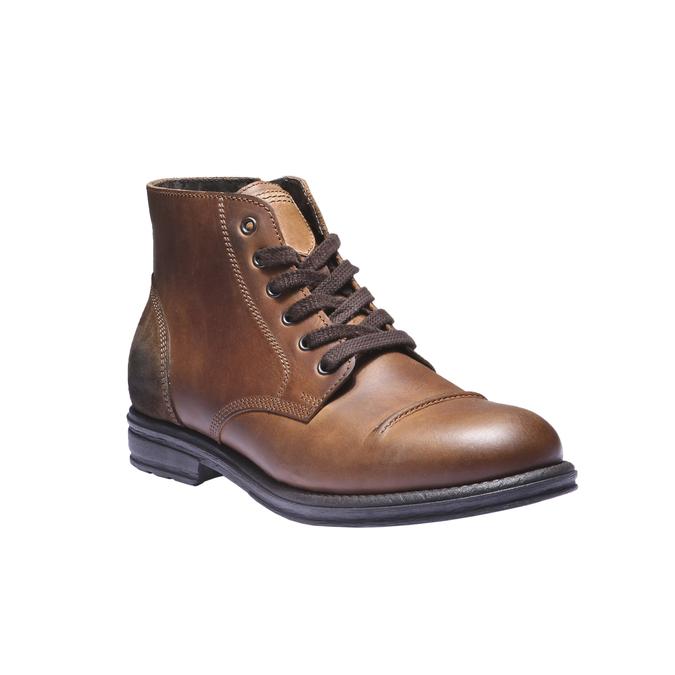Ležérna kožená obuv bata, hnedá, 894-3555 - 13