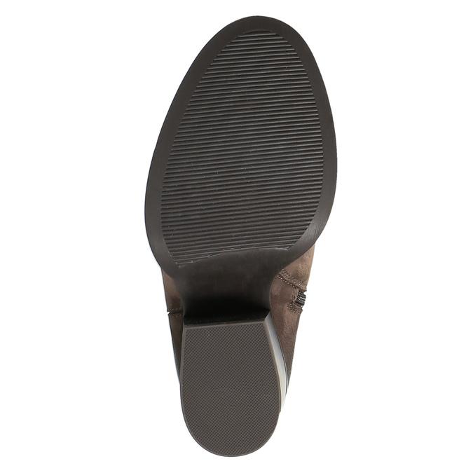 Kožené čižmy nad kolená na masivnom podpätku bata, hnedá, 696-4611 - 26