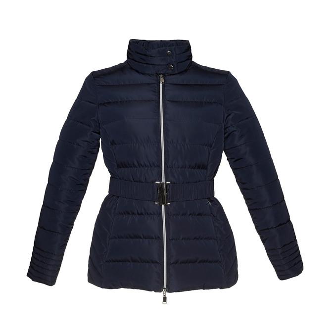 Dámska bunda so sponou bata, modrá, 979-9640 - 13