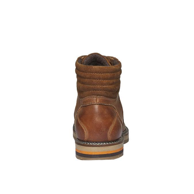 Zimné kožené topánky k členkom bata, hnedá, 894-3100 - 17