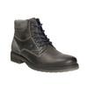 Kožená obuv k členkom bata, šedá, 894-2643 - 13