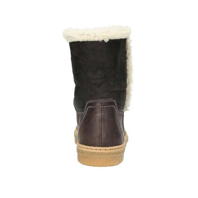 Kožená zimná obuv s kožúškom weinbrenner, hnedá, 596-8628 - 17