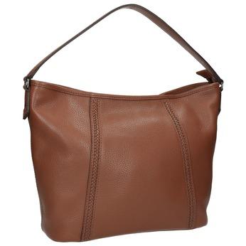 Kožená kabelka v Hobo štýle bata, hnedá, 964-3206 - 13