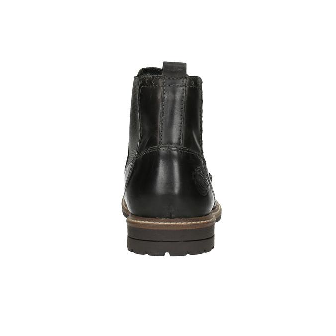 Pánske Chelsoa Boots so zdobením bata, čierna, 894-6645 - 17