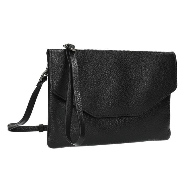 Čierna kožená listová kabelka bata, čierna, 964-6210 - 13