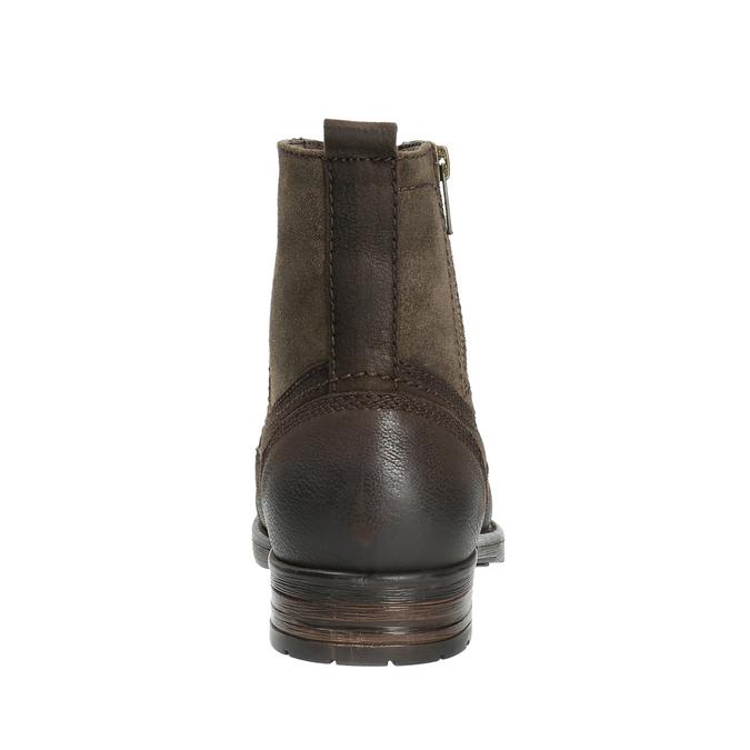 Pánska kožená obuv bata, hnedá, 896-4642 - 17