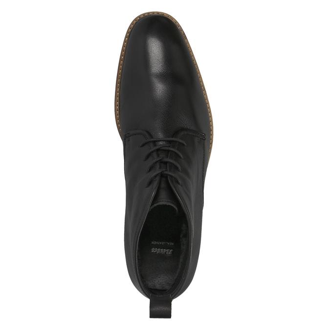 Kožená členková obuv bata, čierna, 894-6665 - 19