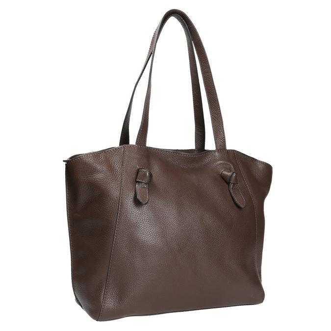 Dámska kožená kabelka hnedá bata, hnedá, 964-4205 - 13