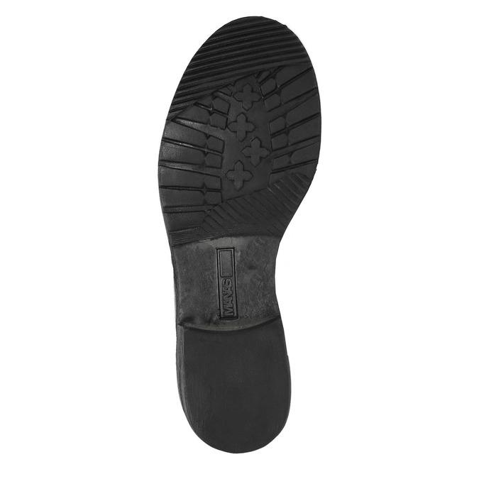 Kožená zimná obuv s kožúškom manas, šedá, 596-2601 - 26