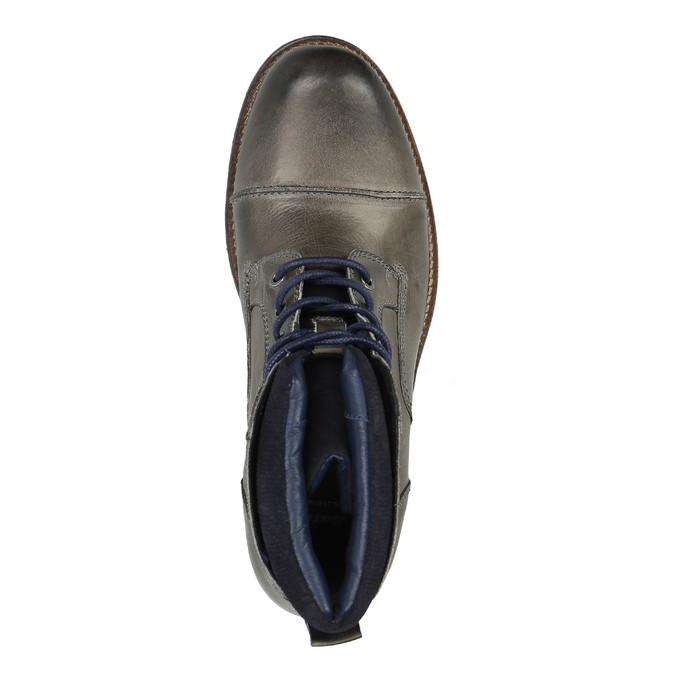 Pánska kožená obuv bata, šedá, 894-2650 - 19
