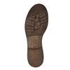 Kožená zimná obuv s kožúškom manas, hnedá, 596-4600 - 26
