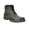 Pánska kožená obuv bata, šedá, 894-2650 - 13