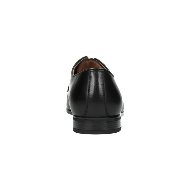 Pánske kožené poltopánky čierne bata, čierna, 824-6771 - 17