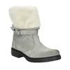 Kožená zimná obuv s kožúškom manas, šedá, 596-2601 - 13