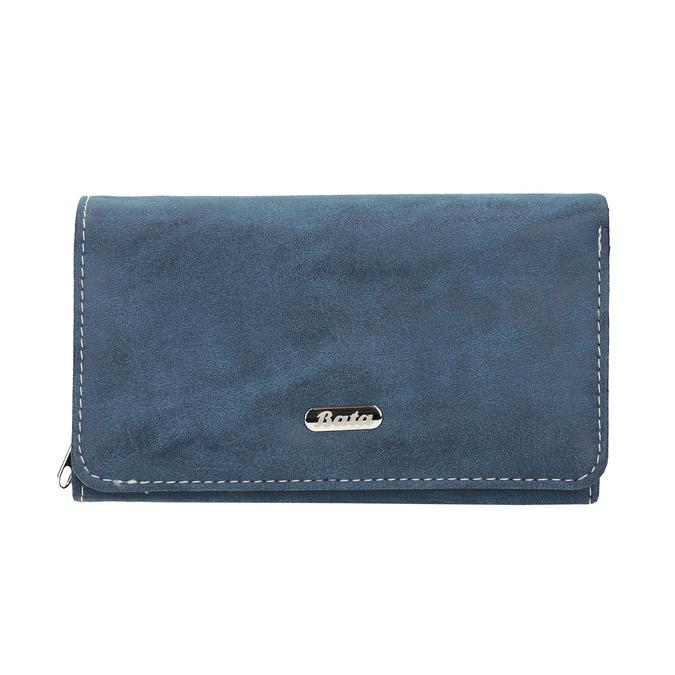 Dámska modrá peňaženka bata, modrá, 941-9153 - 26