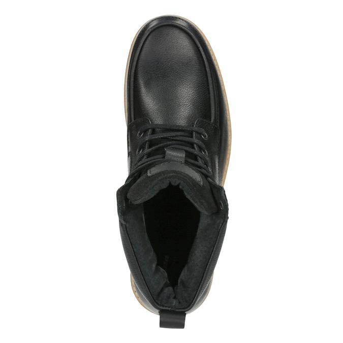 Pánska kožená členková obuv bata, čierna, 896-6652 - 19