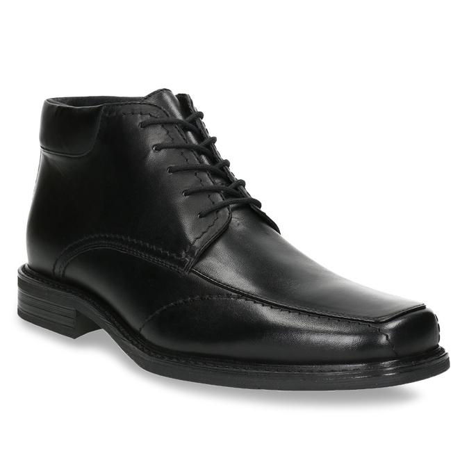 Kožená členková obuv so zateplením bata, čierna, 894-6640 - 13