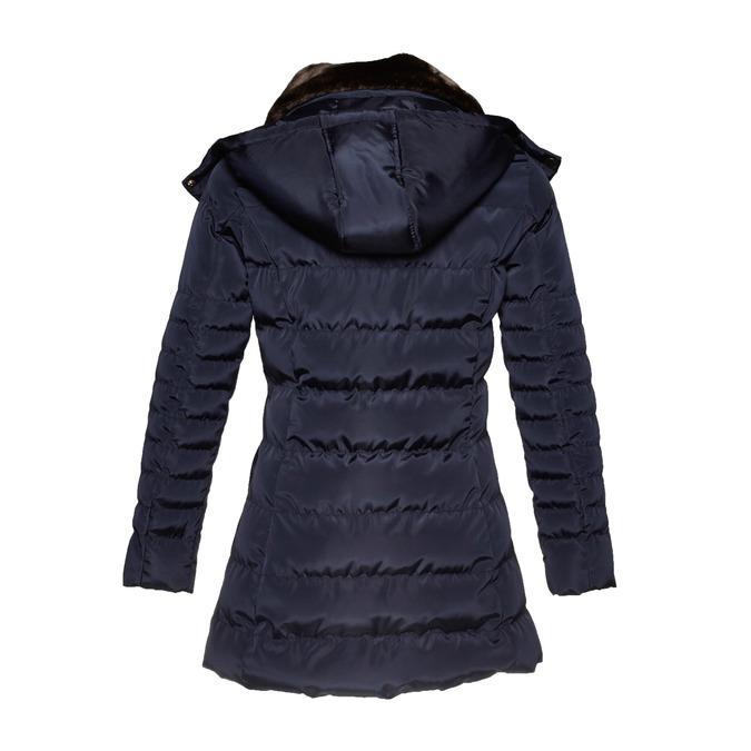 Dámska zimná bunda s kožúškom bata, modrá, 979-9649 - 26