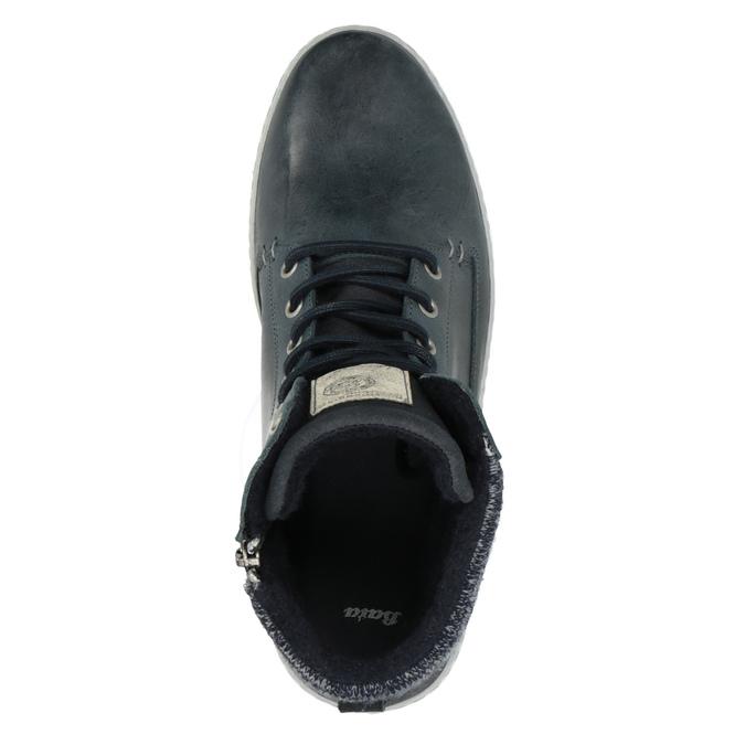 Kožená členková obuv bata, modrá, 846-9615 - 19