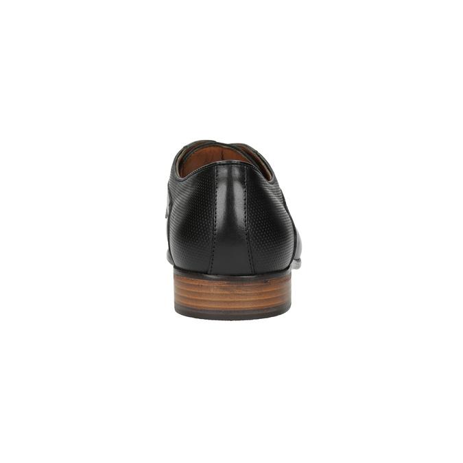 Čierne celokožené poltopánky pánske bata, čierna, 826-6778 - 17