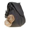 Dámska kabelka s Pom Pom ozdobou bata, čierna, 961-6244 - 17