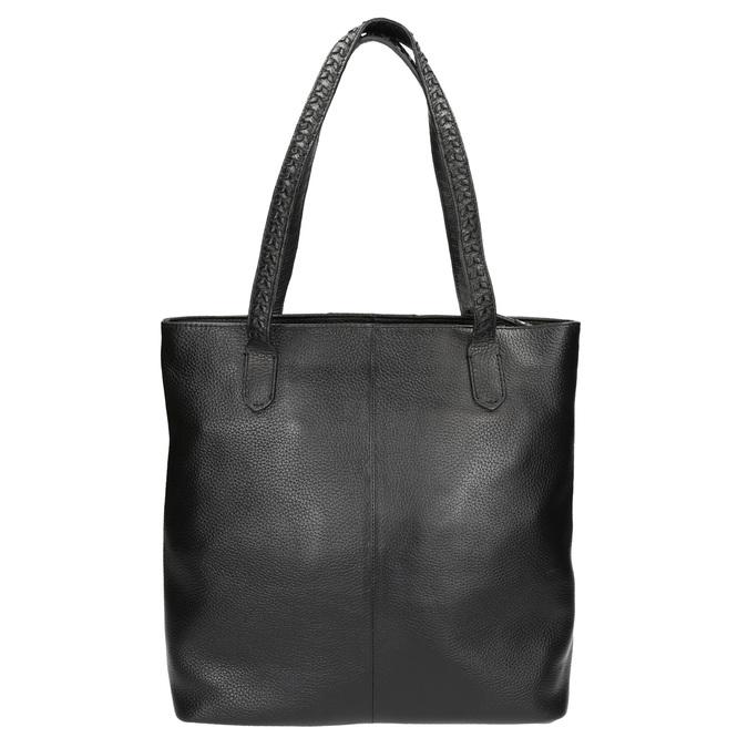 Čierna kožená kabelka bata, čierna, 964-6213 - 19