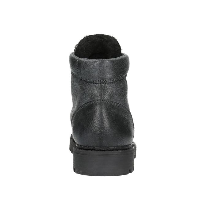 Pánska kožená členková obuv bata, šedá, 896-2653 - 17