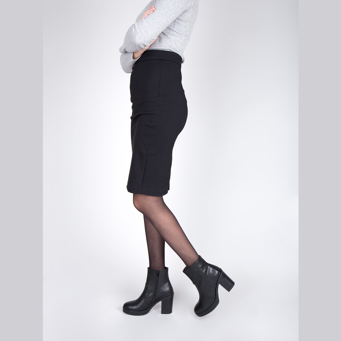 Členková obuv na masívnom podpätku bata, čierna, 791-6601 - 18