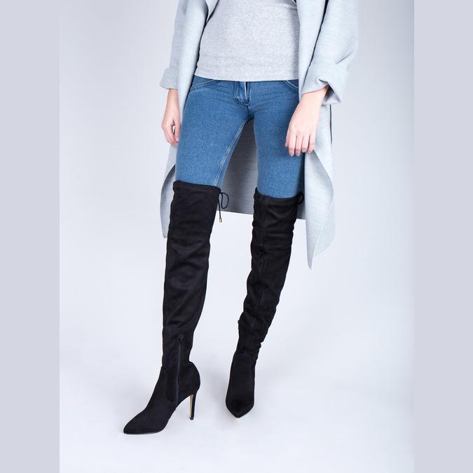 Dámske čižmy nad kolena bata, čierna, 799-6600 - 18