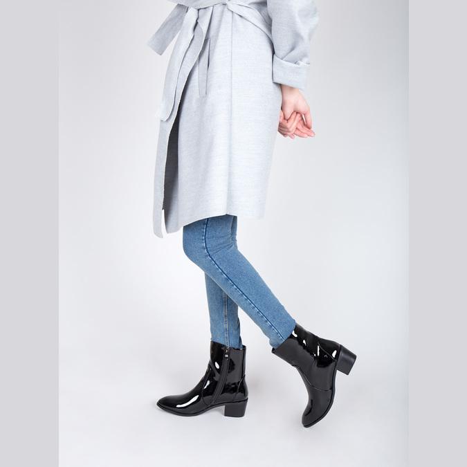 Členková obuv bata, čierna, 691-6630 - 18