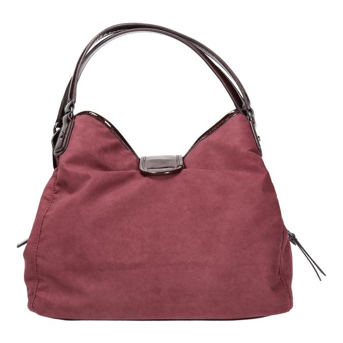 Vínová kabelka s lakovanými detailami bata, červená, 969-5209 - 19