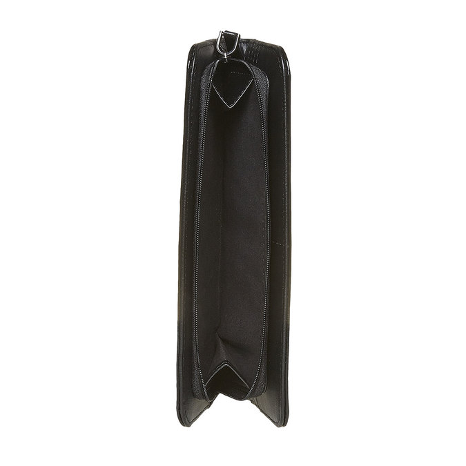 Dámska lakovaná peňaženka bata, čierna, 941-6144 - 17