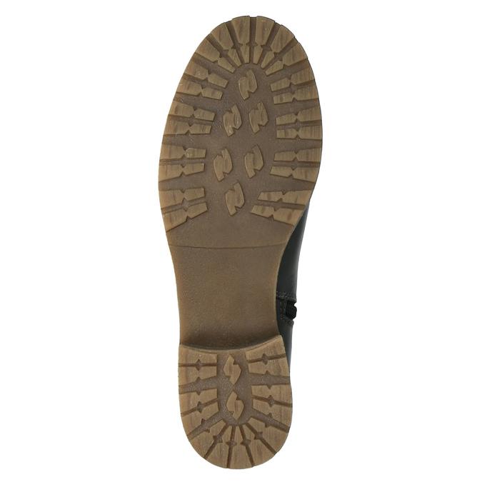 Kožené čižmy s masivnou podrážkou bata, čierna, 594-6613 - 26
