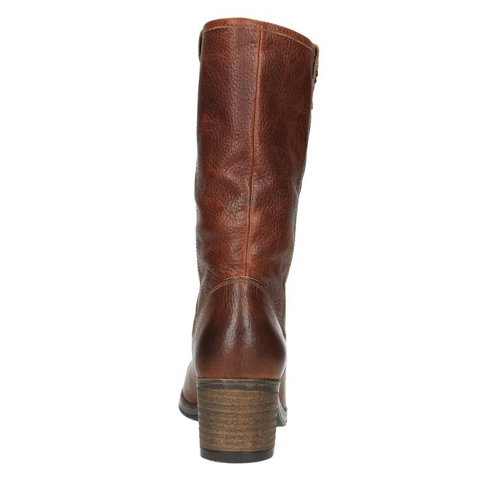 Kožené čižmy vo Western štýle bata, hnedá, 696-3607 - 17