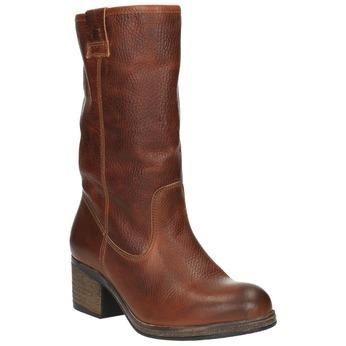 Kožené čižmy vo Western štýle bata, hnedá, 696-3607 - 13