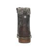 Dámska šnurovacia zimná obuv bata, šedá, 591-6606 - 17