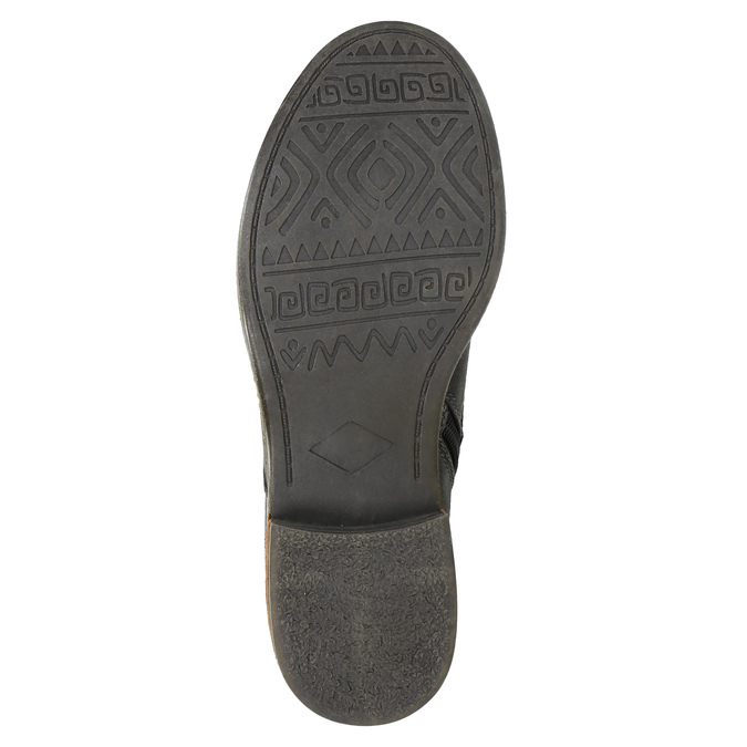 Dámska šnurovacia zimná obuv bata, šedá, 591-6606 - 26