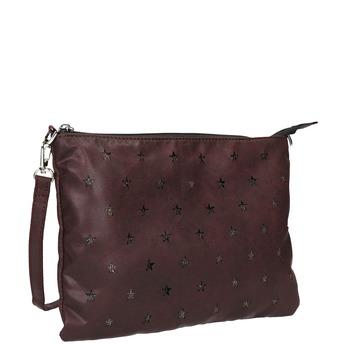 Kabelka v štýle listovej kabelky bata, červená, 969-5631 - 13
