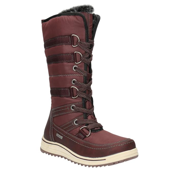 Dámske snehule s kožúškom bata, červená, 599-5614 - 13