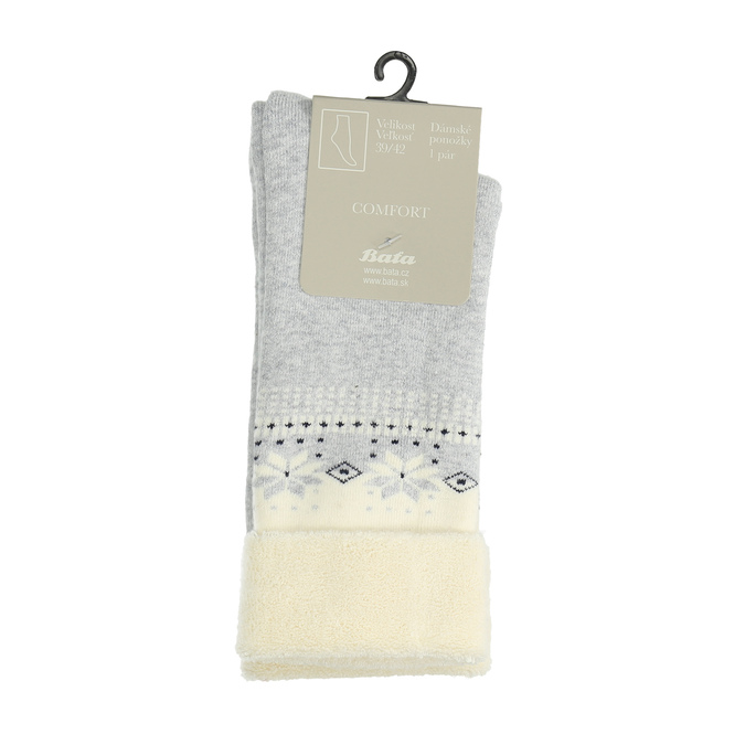 Teplé dámske ponožky bata, šedá, 919-1421 - 13